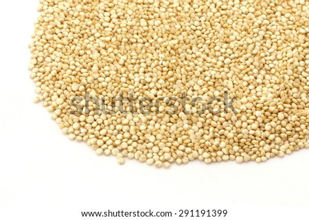 Quinoa Gold on White Background