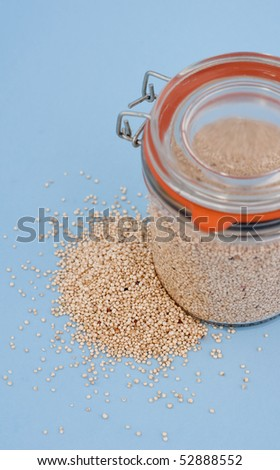 Quinoa in Glass Jar