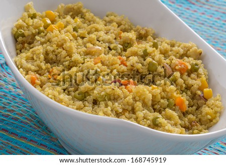 Quinoa Salad in a Serving Dish - stock photo