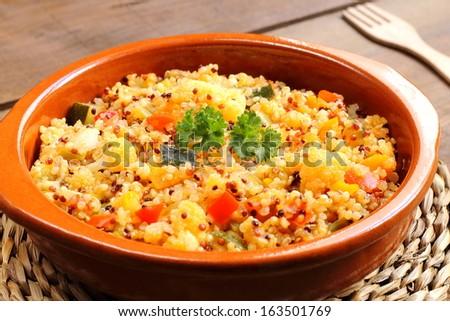 Quinoa with vegetables - stock photo