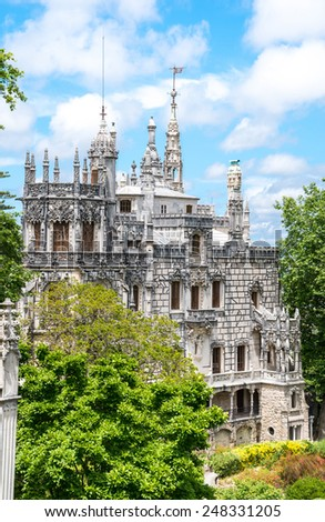 Quinta da Regaleira in Sintra, Portugal. The Knights Templar, and the Rosicrucians - stock photo