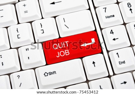 Quit job key in place of enter key