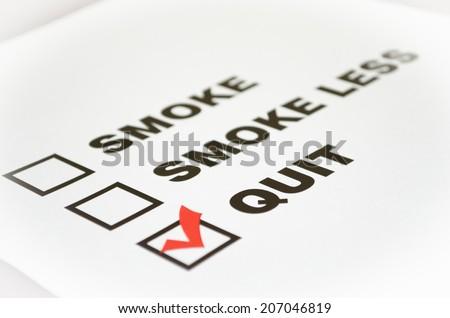 Quit smoking now! - stock photo