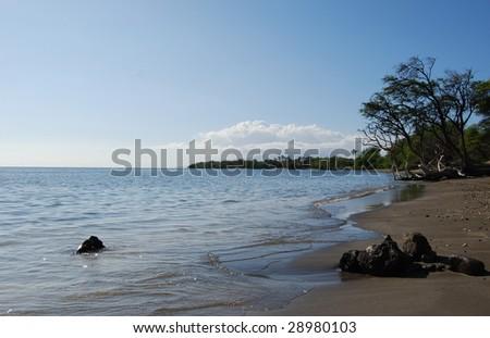 quite beach maui - stock photo