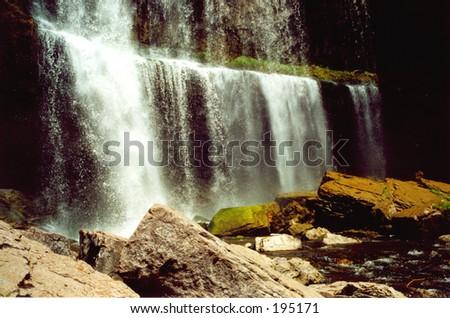 Quite big waterfall #1, Hamilton, ONT, Canada - stock photo