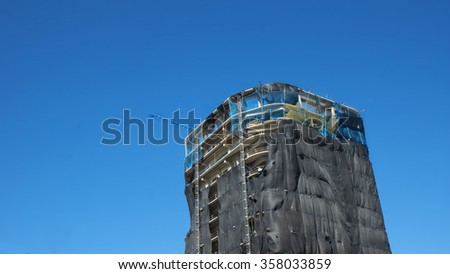 Quito, Pichincha / Ecuador - January 1 2016: Building under construction in the north central area of the city