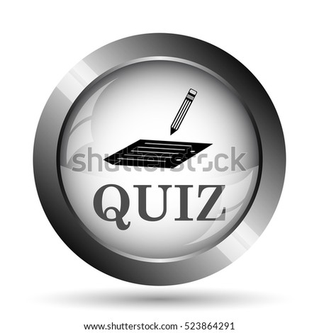 Quiz icon. Quiz website button on white background.