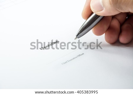 Quotation sign on paper background