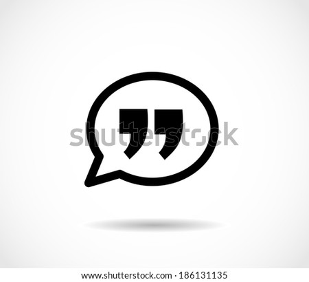 Quote icon - stock photo