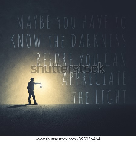 Light Quote Amazing Quote Light Darkness Stock Photo 395036464  Shutterstock
