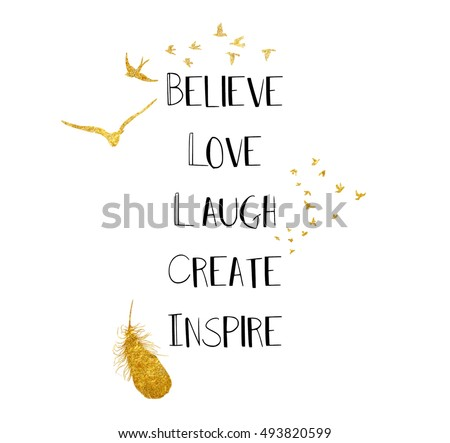 quote on white background and gold