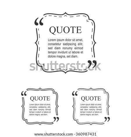 Quote Template Vintage Frame Set Decorative Stock Vector 334593272 ...