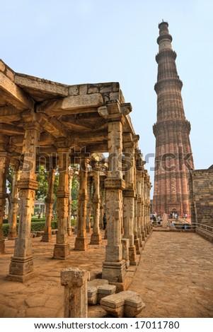 Qutb Minar, new Delhi, India. - stock photo