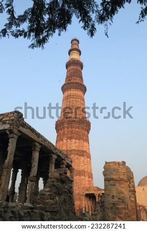 Qutub Minar, New Delhi, India - stock photo