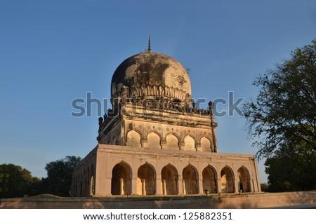 Qutub Shahi Tombs at Hyderabad India - stock photo