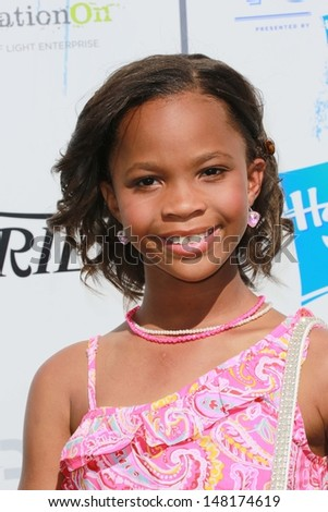 Quvenzhane Wallis at Variety's Power of Youth, Universal Studios, Universal City, CA 07-27-13 - stock photo