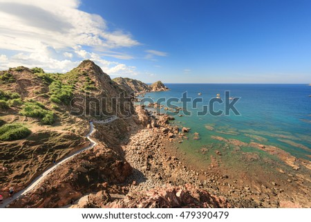Quy Nhon City, Binh Dinh Province, Vietnam - August 28, 2016: Eo Gio beach in the city of Qui Nhon is the tourist attractions preferred of many tourists