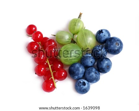 R G B - a delicious Red, Green and Blue fruits
