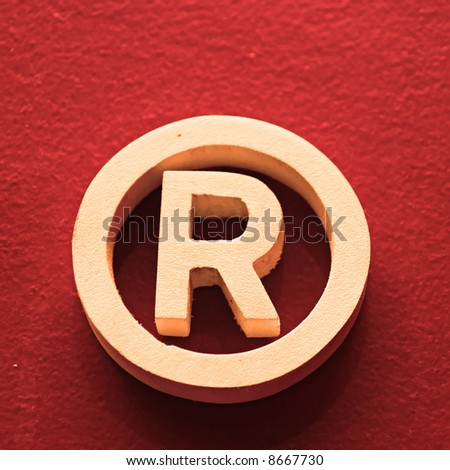 R - Registered trademark in a square red background