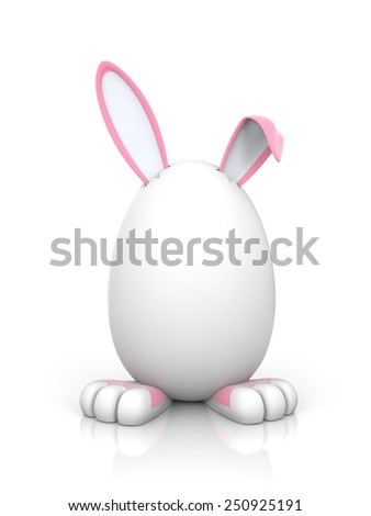 Rabbit in the egg. Female - stock photo