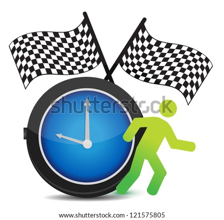 Race Against Time concept illustration design over white