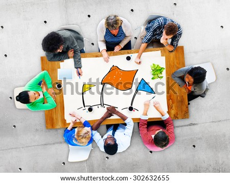 Race Aim Goal Challenge Competition Solution Concept - stock photo