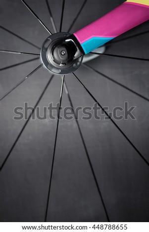 Race bike wheel - stock photo