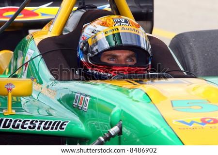 Race car driver. - stock photo