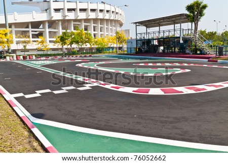 Race cars racing - stock photo