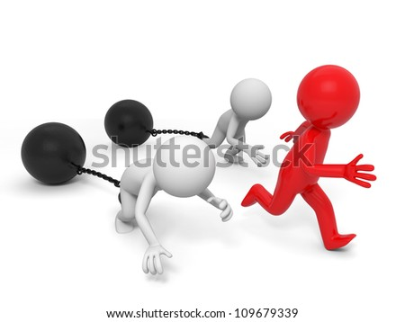 race/competition /win/success/three people in the race - stock photo