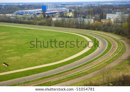 race course Sluzew in Warsaw (Poland) - stock photo