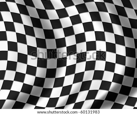 race flag - stock photo