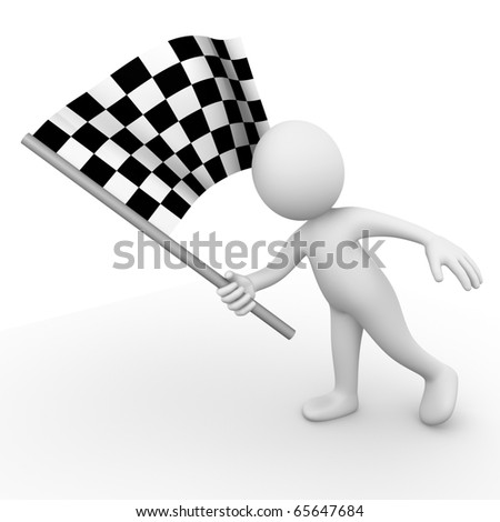 Race flag - stock photo