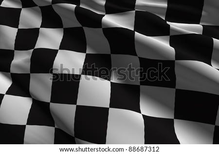 Race flag Checkered flag - stock photo