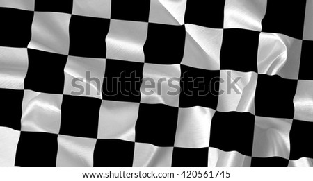 Race flag waving in the wind - background