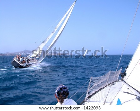 race in Canaries - stock photo