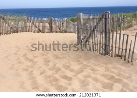 Race Point beach, Provincetown, Massachusetts on Cape Cod - stock photo