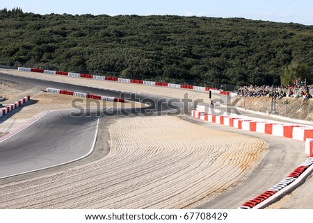 race road - stock photo