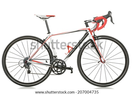 race road bike isolated on white background  - stock photo