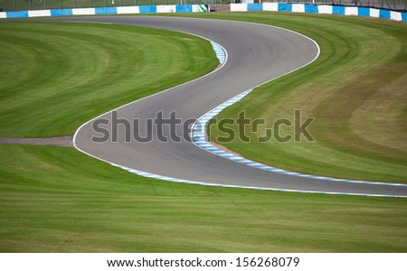 race track corners - stock photo