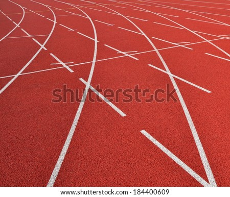 Race track curve          - stock photo