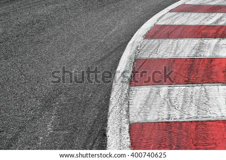 Race track detail - stock photo
