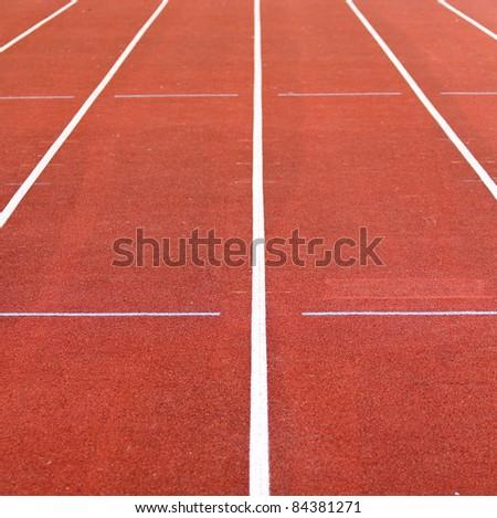 race track lines - stock photo