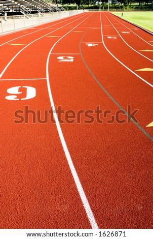 Race Track Straightaway. - stock photo