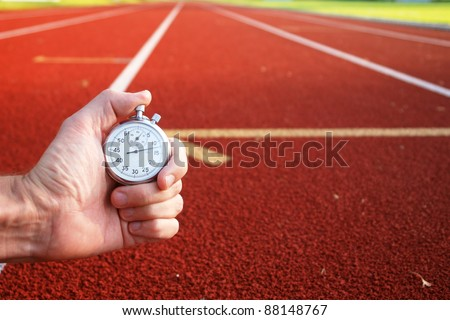 race tracks ready for the olympic games - stock photo