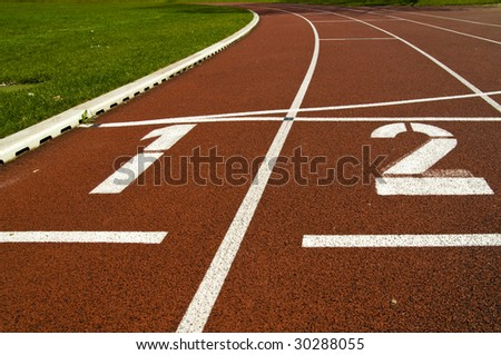 racetrack - stock photo