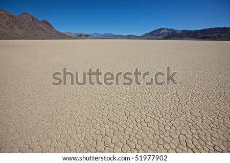 Racetrack Floor in Death Valley National Park, California - stock photo