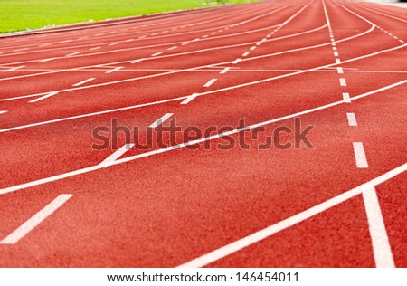 racetrack in red - stock photo