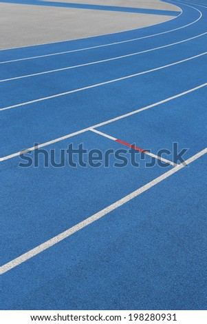 raceway in blue - stock photo
