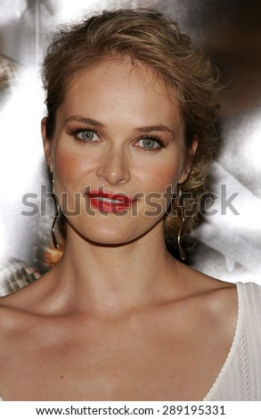 Rachel Blanchard attends the Premiere of 'Snakes on a Plane' held at the Grauman's Chinese Theater in Hollywood, California on August 17, 2006.
